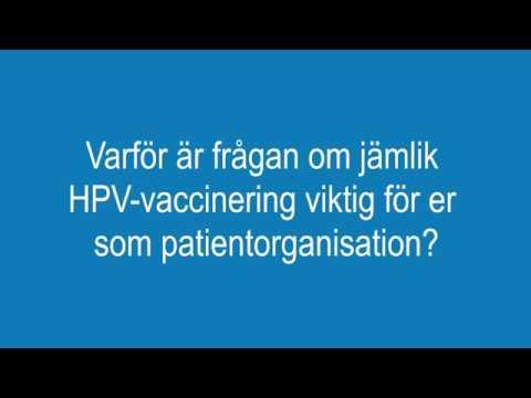 Tankar om HPV och jämlik HPV-vaccination