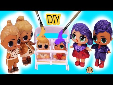 DIY Makeover LOL Surprise Lil Sisters Peanut Butter & Jelly Craft Painting Video - UCelMeixAOTs2OQAAi9wU8-g