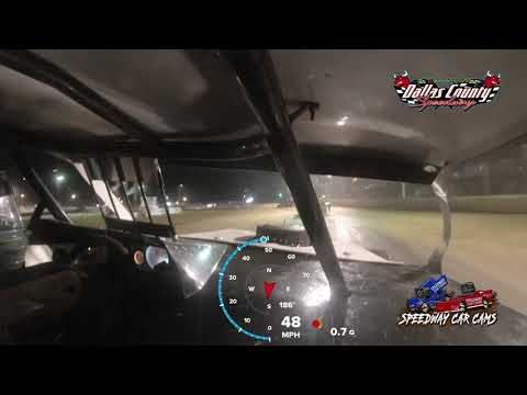 #11 Logan Smith - Midwest Mod - 8-27-2021 Dallas County Speedway - In Car Camera - dirt track racing video image