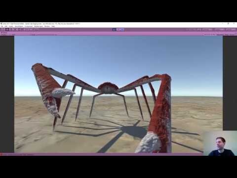 Unity game development - final update for spider crab - Twitch stream