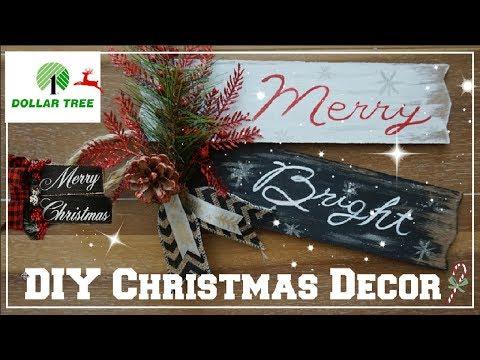 DOLLAR TREE DIY CHRISTMAS DECOR 2018   FARMHOUSE HOLIDAY DECOR IDEAS   Momma From Scratch