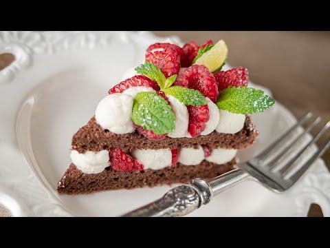 ШОКОЛАДНО МИНДАЛЬНЫЙ ТОРТ с ягодой - делать легко и хватит надолго! | простой рецепт без муки