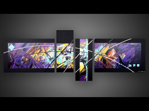Abstract Painting demonstration in Acrylics with masking tape | Candy