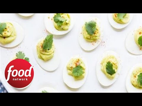 Extra-Creamy Avocado Deviled Eggs | Food Network