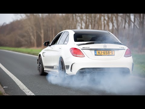 650HP Stage 2 Mercedes C63 S AMG with Decat Downpipes - LOUD Revs, Accelerations & Burnout !