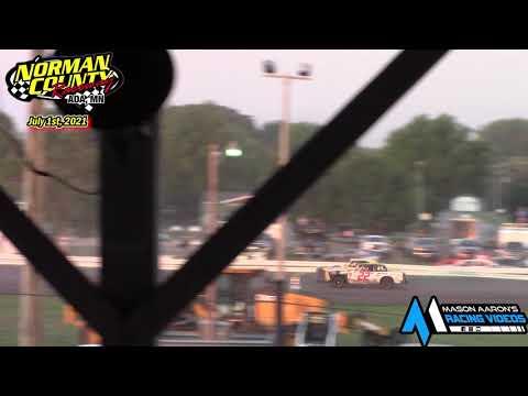 Norman County Raceway IMCA Hobby Stock Races (7/1/21) - dirt track racing video image