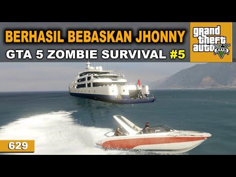 BERHASIL BEBASKAN ORANG NO 1   GTA 5 ZOMBIE SURVIVAL #629