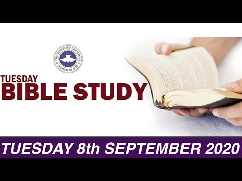 RCCG SEPTEMBER 8TH 2020 BIBLE STUDY  SPEAKING GRACIOUS WORD SPRINKLED WITH INSIGHT