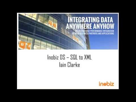 Inobiz DS - Mapping SQL to XML