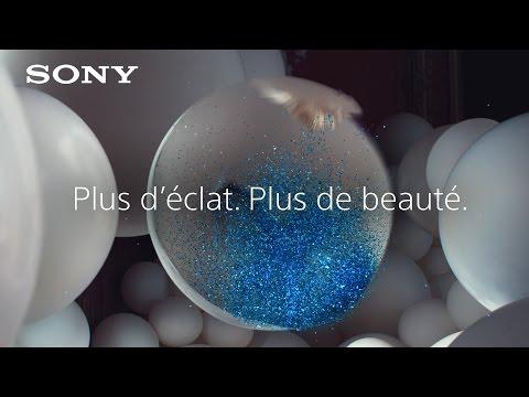 Téléviseur 4K HDR Sony BRAVIA - Plus d'éclat. Plus de beauté. -Ballons à paillettes