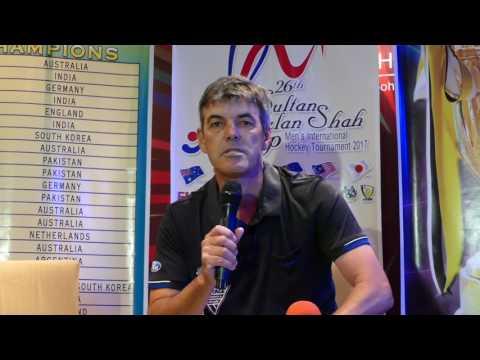 New Zealand media conference. Sultan Azlan Shah Cup 2017. Mens hockey.