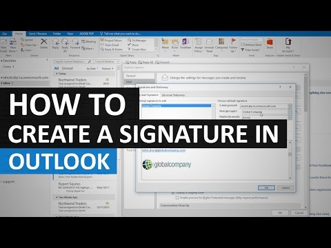 Setting up an Email Signature in Outlook