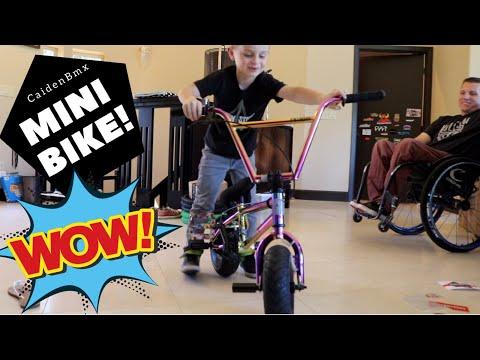 I got an Oil Slick Fatboy Mini BMX Bike!!!