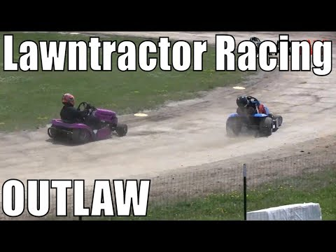 Outlaw Class Lawntractor Racing At Western Ontario Outlaws July 21 2019