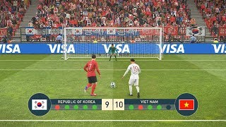 KOREA vs VIET NAM - PENALTY SHOOTOUT | 페널티 슛 아웃 - PES19