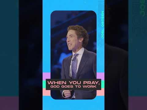 When You Pray, God Goes to Work #Shorts  Joel Osteen  Lakewood Church