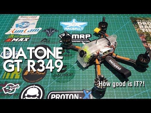 """Diatone r349 3"""" race quad suppa fly'er at minus 6° - UCv2D074JIyQEXdjK17SmREQ"""