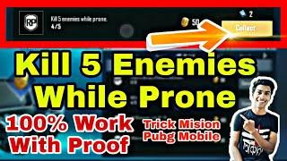 Kill 5 Enemies While Prone Mission Pubg Mobile