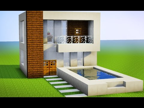 Youtube minecraft como fazer sua primeira casa moderna for Tutorial casa moderna grande minecraft