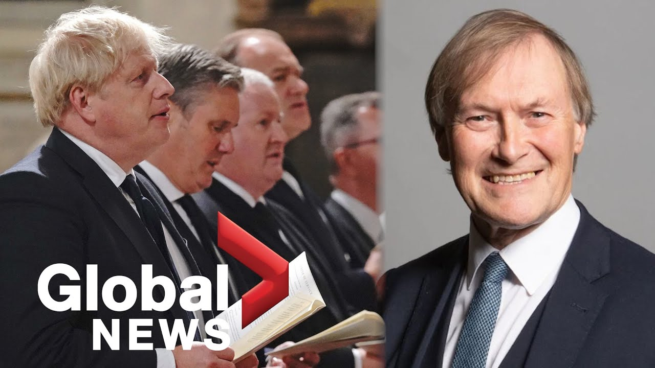"""UK MP David Amess remembered as """"of the best"""" during service at Westminster Abbey 