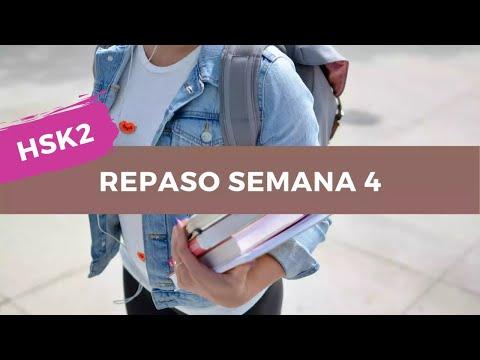 HSK2 Calendario Estudio Chino Nivel Básico - Repaso Semana 4