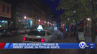 Syracuse Police keep noticeable presence in Armory Square