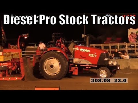 Diesel Pro Stock Tractor Class Tractor Pulls From TTPA In Caro Michigan 2018
