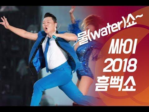 물(water) 계속 쏟아진다, 가수 싸이 '2018 흠뻑쇼'