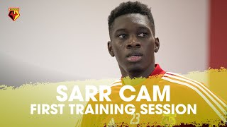 SARR CAM! RECORD SIGNING TAKES PART IN FIRST TRAINING SESSION 🎥🇸🇳