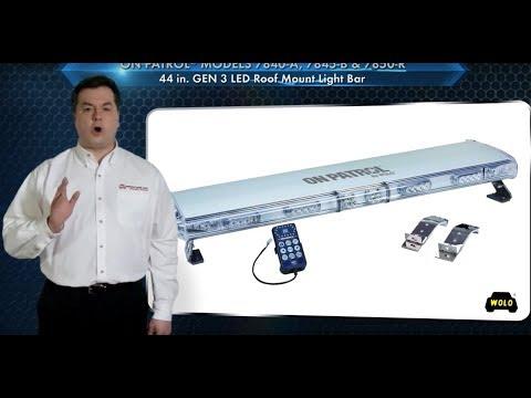 WOLO On Patrol 49in. GEN 3 LED Lightbar - 64 Amber LEDs, 9 Amp, 12V, Model# 7800-A