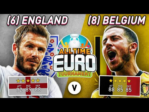 England All-Time XI vs Belgium All-Time XI | FIFA 20 All-Time EURO Semi-Finals