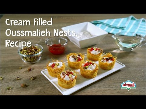 Cream filled Oussmalieh Nests Recipe