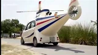 LiveLeak Wannabe Indian pilot turns his car into a helicopter