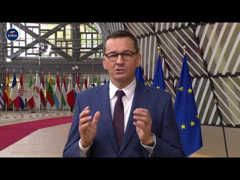 Premier Mateusz Morawiecki - Wypowiedź przed szczytem Rady Europejskiej