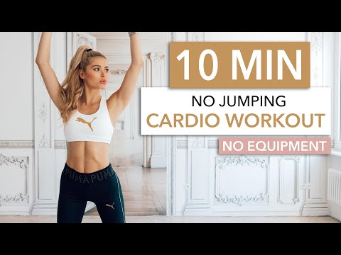 10 MIN CARDIO / No Jumping - silent & neighbor friendly / No Equipment I Pamela Reif