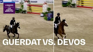 0.03 Sec apart! Steve Guerdat vs Pieter Devos - Head-to-Head | Longines FEI Jumping World Cup™ FINAL