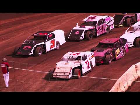 Perris Auto Speedway IMCA Modified Main Event 9-18-21 14 yellows, fighting, hot tempers. - dirt track racing video image