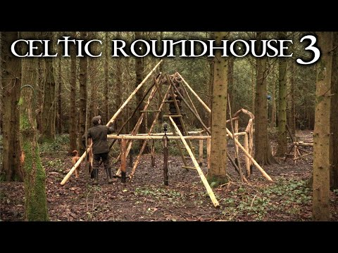 Building an Iron Age Roundhouse with Hand Tools: Bushcraft Project (PART 3)