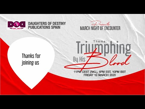MARCH NIGHT OF ENCOUNTER DAUGHTERS OF DESTINY PUBLICATIONS