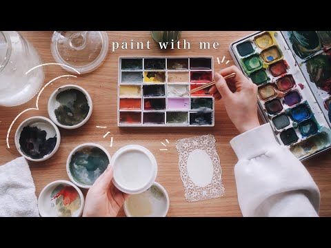 PAINT WITH ME: ☁️ japanese watercolors, victoriana paper, & haul 🍃