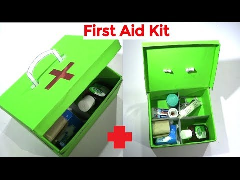 How to make First Aid Kit | First aid box at home | School activity | Easy craft hacker - default