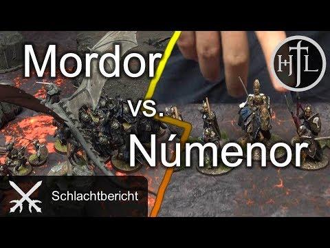 Battlereport - Numenor vs. Mordor (Mittelerde Tabletop / Hobbit / Herr der Ringe / HdR)