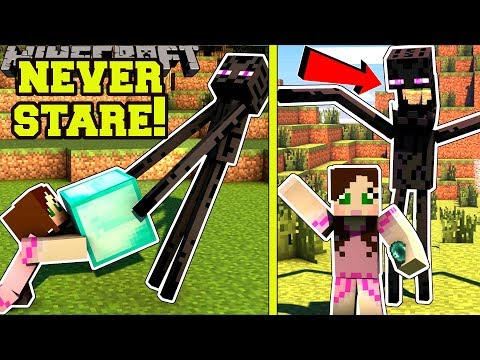 Minecraft: *NEVER* LOOK AT ENDERMAN'S EYES! - ENDERMAN SECRET TREASURE - Custom Map