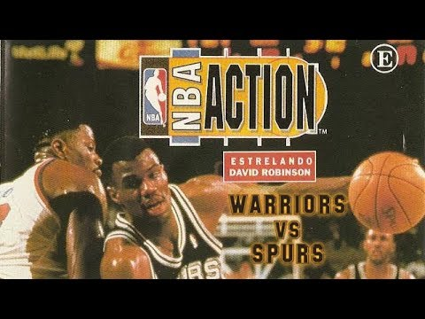 NBA Action Starring David Robinson (1994) - Game Gear - Warriors vs Spurs