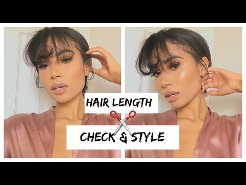 HAIR LENGTH CHECK| HAIR GROWTH TIPS & STYLING