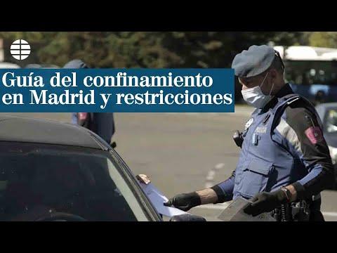 Guía del confinamiento en Madrid y restricciones
