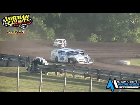 Norman County Raceway IMCA Modified Races (6/3/21) - dirt track racing video image