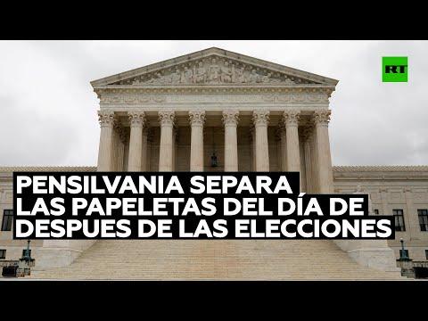 Pensilvania separar las papeletas que llegaron después del día de las elecciones