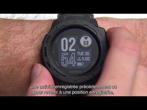 Garmin Instinct - Fonctions de navigation de base