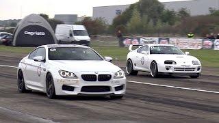 BMW M6 F13 HPT Stage 2+ vs Toyota Supra vs Shelby GT500
